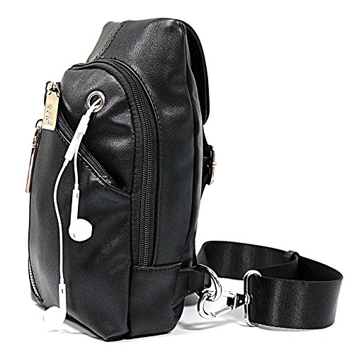 Uranosky Travel Outdoor Backpack Waterproof and Sling Bag PU Leather Shoulder Bag for Zerotech Dobby Drone
