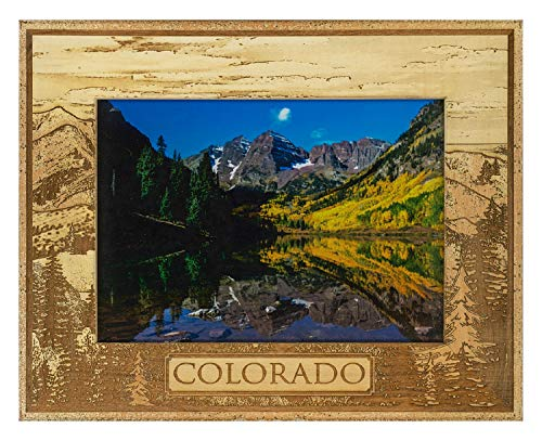 Colorado Laser Engraved Wood Picture Frame (5 x 7) (Colorado Pictures)