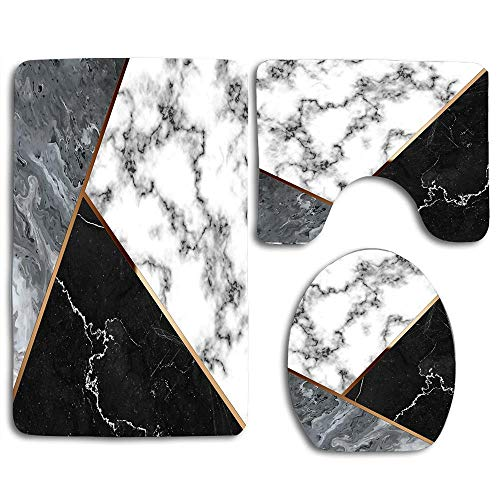 Super Elegant Silver Marble With Bronze Lining Washroom Mats Anti Pabps2019 Chair Design Images Pabps2019Com