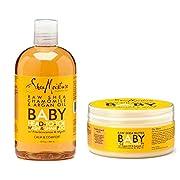Shea Moisture Raw Shea Chamomile and Argan Oil Baby Head to Toe Wash & Shampoo and Baby Eczema Therapy