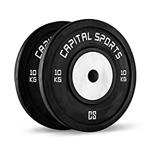 Capital Sports Inval Competition Bumper Plates Discos de Pesas 10 ...