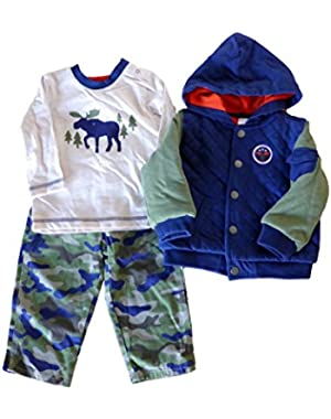 Baby Boy Infant 3 Piece Jacket Set
