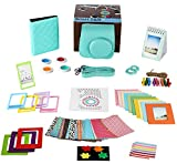 Fujifilm Instax Mini 8/8+,Mini 9 Mint Camera Accessories Bundle,14 Piece Set Includes:Camera Case with Strap, Album, Filter, Selfie lens, Magnets + Hanging + Creative Frames, stickers, Gift Box