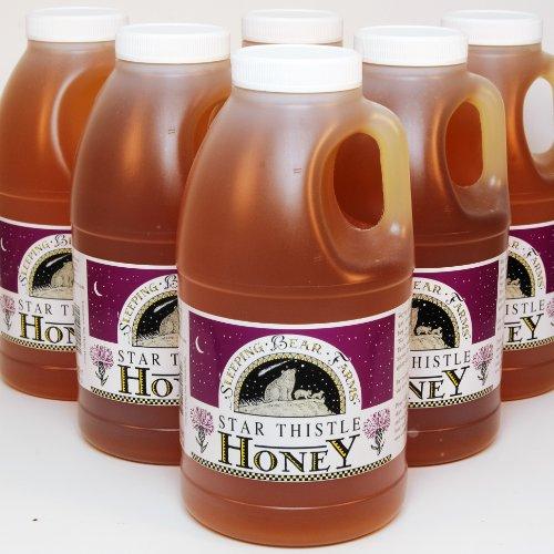 Honey Jug (Star Thistle Honey Jug 3 lb. - Case of 6 Bulk Honey Wholesale Unpasteurized Unblended No Additives Pure Michigan Honey)