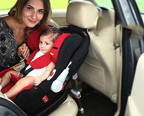 WLZJ Child Seat Basket Type Car Child Seat Isofix Interface Suitable for Children from 0-18 Months,C