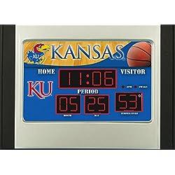 Kansas Jayhawks Scoreboard Desk & Alarm Clock