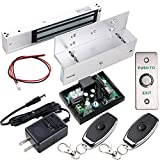 UHPPOTE Access Control Inswinging Door 600Lbs Electromagnetic Lock Remote & Bracket Kit, Mag-Lock