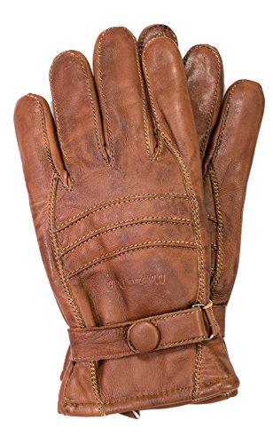 Riparo Men's Insulated Full-Grain Leather Driver Work Glove (Brown, Medium)