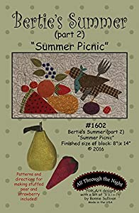Bertie's Summer Quilt Pattern Part 2 Summer Picnic by All Through The Night