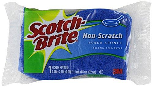 Scotch-Brite 3M Non-Scratch Scrub Sponges - - Sponge Scratch Non Scrub