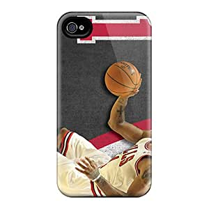Great Hard Phone Covers For Iphone 4/4s (bAl15394mnhE) Unique Design High Resolution Chicago Bulls Image