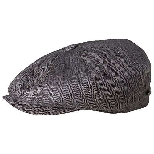 Stetson Men's Cashmere Silk Blend 8/4 Cap with Lining, Gray, Medium