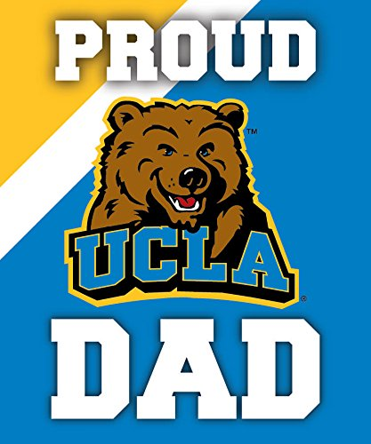 R and R Imports, Inc UCLA Bruins NCAA Collegiate 5x6 Inch Rectangle Stripe Proud Dad Decal Sticker