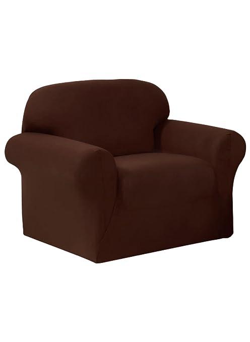 Sensational Madison Jersey Brown Large Recliner Slipcover Beatyapartments Chair Design Images Beatyapartmentscom