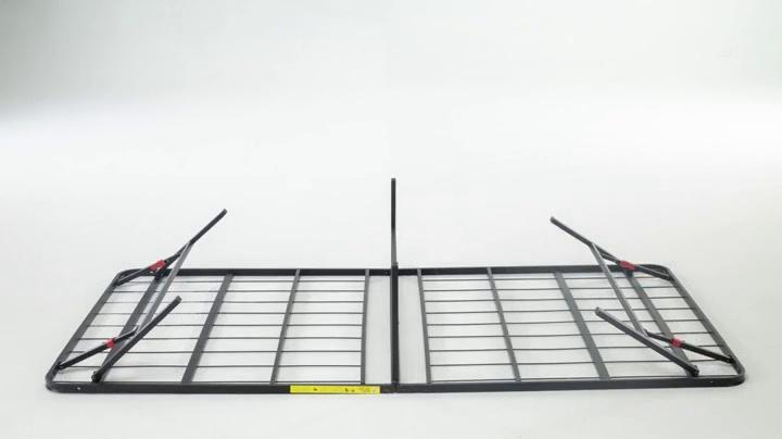 AmazonBasics Foldable Metal Platform Bed Frame for Under-Bed Storage - Tools-free Assembly 7