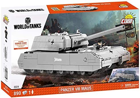 COBI World of Tanks Panzer VIII Maus Tank, Grey