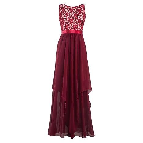 Conquro Vestido de espalda abierta vestido de costura vestido de ...