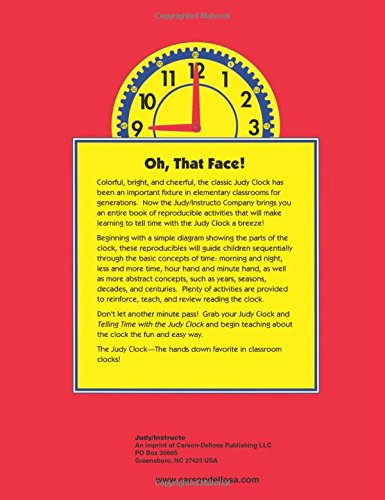 Amazon.com: Telling Time with the Judy Clock: Reproducible ...