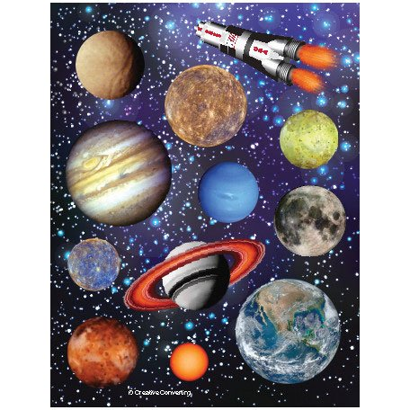 Solar System Stickers (Creative Converting Hanging Décor New Year Countdown)