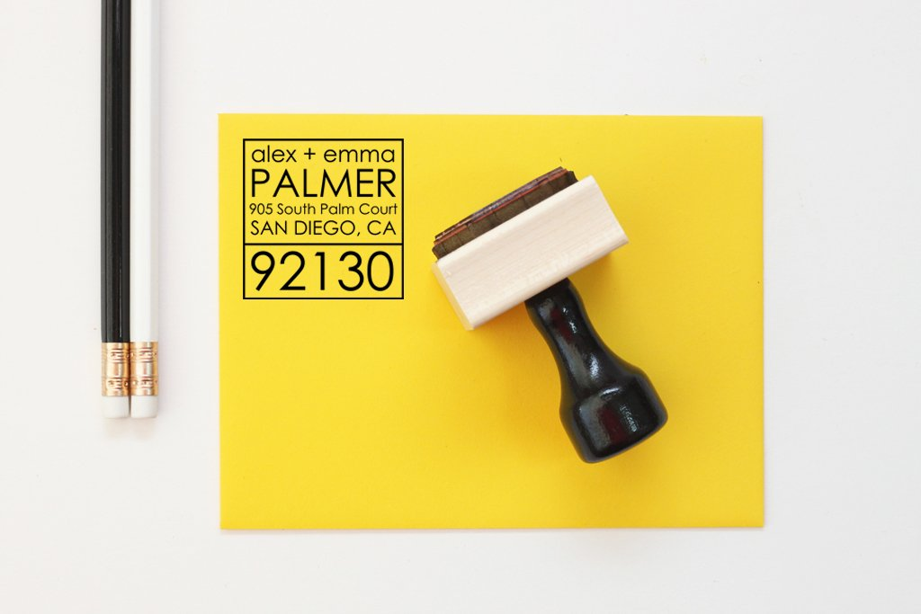 Custom Return Address Stamp-Self Inking-Rubber Stamp-Personalized Stamp-Housewarming Gift-Client Gift-Wedding Stamp-Invitation Stamp