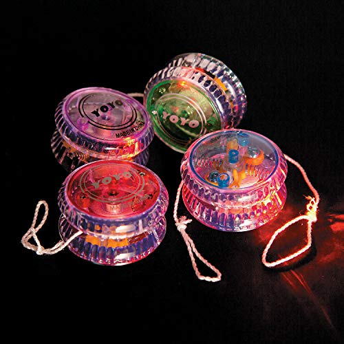 Fun Express - Light Up Champion Yo yo - Toys - Value Toys - Yo - Yos - 12 Pieces