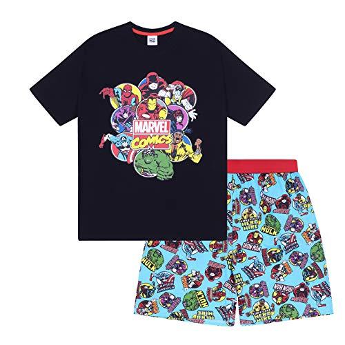 Marvel Comics Hulk Spiderman Official Boys Loungewear Short Pajamas 12-13 ()