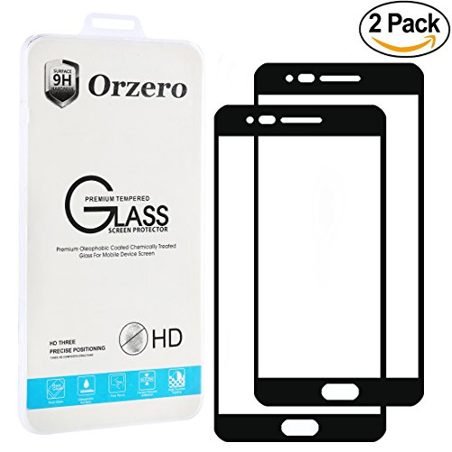 [2 Pack] Orzero For LG Rebel 2 / Risio 2 LTE / LG Fortune / Phoenix 3 / K4 (2017) [ Full Cover ] Tempered Glass Screen Protector, 2.5D Arc Edges HD Anti-Fingerprint [ Lifetime Replacement Warranty ]