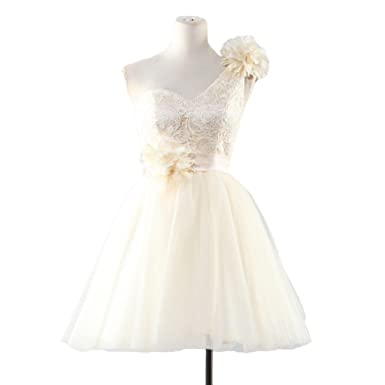 HS Sweetheart A-line Prom Dresses With Ribbon Flower Same as Picture US16
