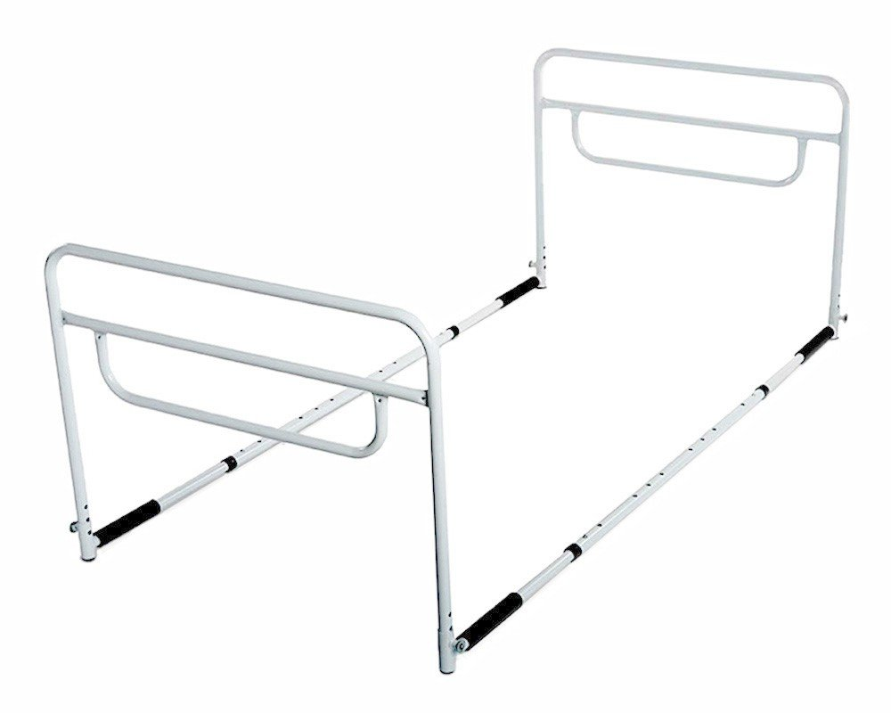 RMS Dual Bed Rail - Adjustable Height Bed Assist Rail, Bed Side Hand Rail - Fits Full & Twin Beds (Dual Hand Rail)