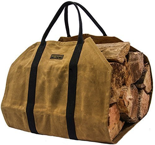 Readywares Waxed Canvas Firewood Log Carrier by Readywares