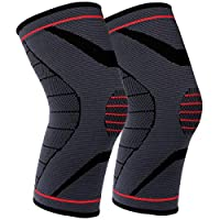 GobiDex Knee Brace Compression Sleeve for Joint Pain, ACL, MCL and Knee Tendonitis Arthritis Pain Relief, Runners Knee Brace Improve Circulation Support for Gym Recovery Workout Meniscus Tear Brace