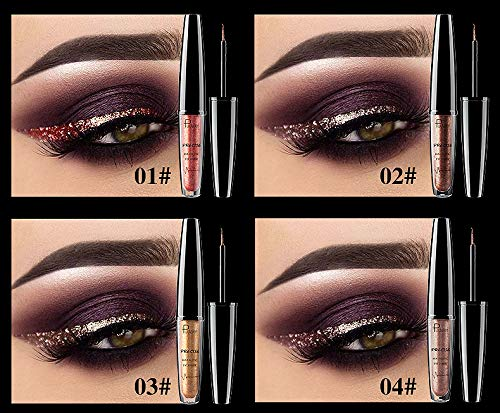 Amazon.com : Liquid Glitter Profissional Metallic Silver Waterproof Sparkling Eyeliner For Eyeshadow Eyes Makeup : Beauty
