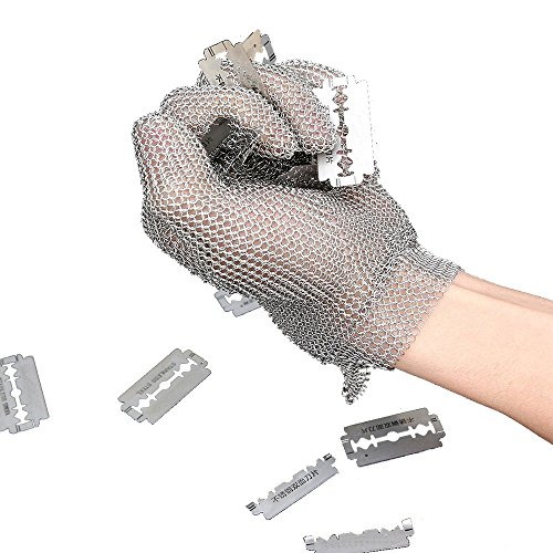 Mandoline Kitchen Collection - Anself Stainless Steel Mesh Gloves, Cut Resistant Gloves for Kitchen Butcher Working Safety (Large)
