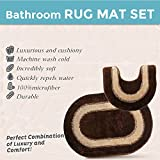 Bath Rug Set Non Slip Machine Wash Available Strong