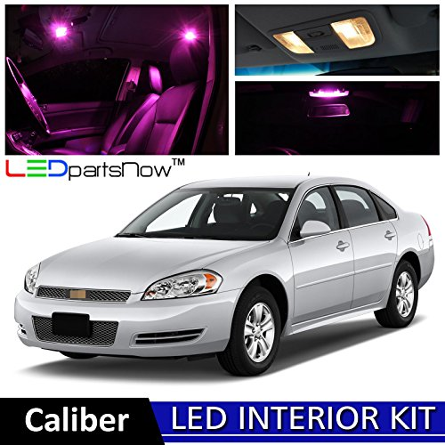 LEDpartsNOW Chevy Impala 2006 2012 Pink Premium LED Interior Lights Package  Kit (12 Pieces)