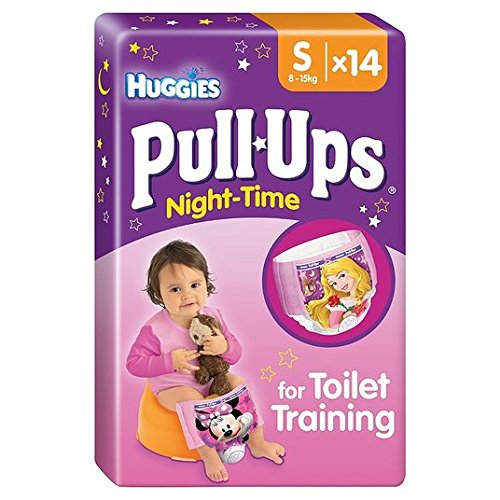 Huggies Small Pull-Ups Night Time 8-15kg Girls 14 per pack