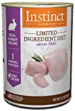 Instinct Limited Ingredient Diet Grain Free Real Rabbit Recipe Natural Wet Canned Dog Food by Nature's Variety, 13.2 oz. Cans (Pack of 6)