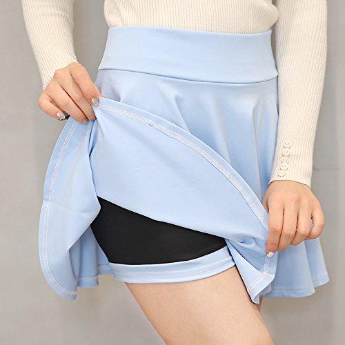 clair Couleur lgant Femmes Plus Haute XFentech Solide Taille Taille Bleu Taille Jupe Beau Stretch HOYwdHqg