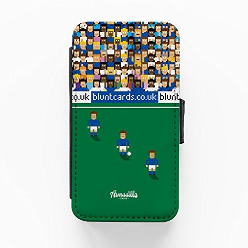 Cardiff 8bit Hochwertige PU-Lederimitat Hülle, Schutzhülle Hardcover Flip Case für iPhone 4 / 4s vom Blunt Football + wird mit KOSTENLOSER klarer Displayschutzfolie geliefert