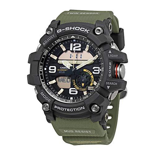 Casio Men's GG-1000-1A3CR Mudmaster G-SHOCK Quartz Casual Watch, Green (Shock Watch G 1000)