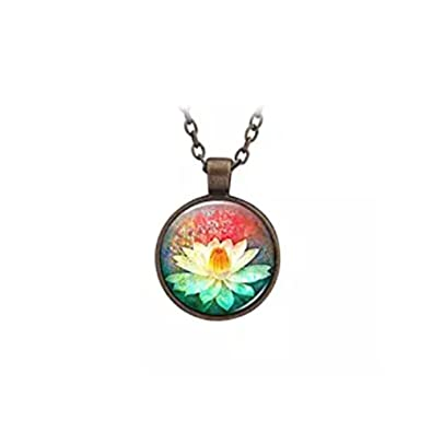 Yoga Lotus Necklace Lotus Flower Necklace Lotus Jewelry Yoga