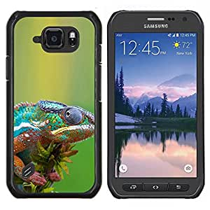 Stuss Case / Funda Carcasa protectora - The Cool Camaleón - Samsung Galaxy S6 Active G890A