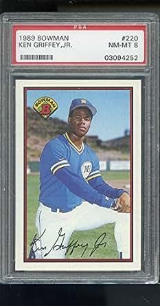 Honkbal KEN GRIFFEY JR.~1989 BOWMAN PSA-8 NM-MT GRADED MLB BASEBALL ROOKIE RC CARD #220 Verzamelkaarten: sport