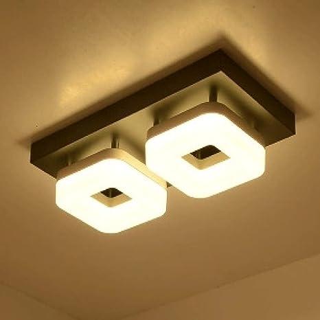 WSYYWD Lámpara de techo LED moderna de acero inoxidable Pvc ...