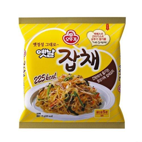 Korean Food Japchae Noodles of Boiled Bean Threads 73g 잡채 (Pack of 5)