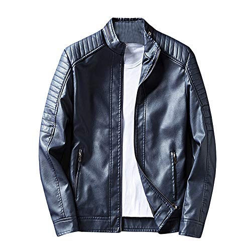 Leather Bke (iYYVV Mens Classic Autumn Leather Jacket Winter Wear Fashion Jacket Casual Coats)