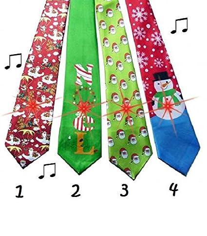 Corbata Musical y luminosa de Noel Deguisement Fete - MODELE 1 ...