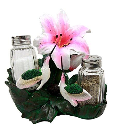 - Atlantic Collectibles Hummingbirds Salt Pepper Shakers Holder Figurine Honeysuckle Nectar Lovebirds 6