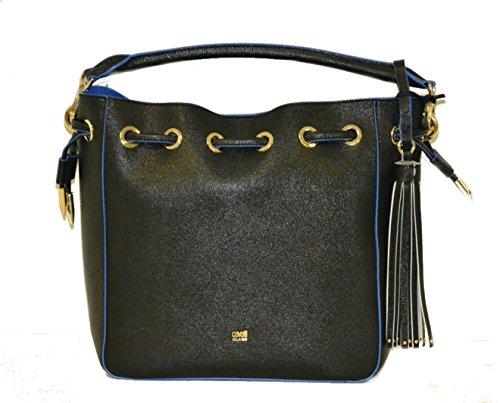 Borsa Roberto Cavalli satchel black e blue