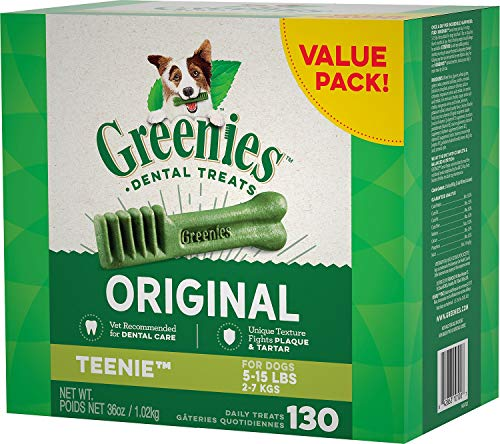 Greenies Dental Chews for Dogs, Teenie, 130 Count
